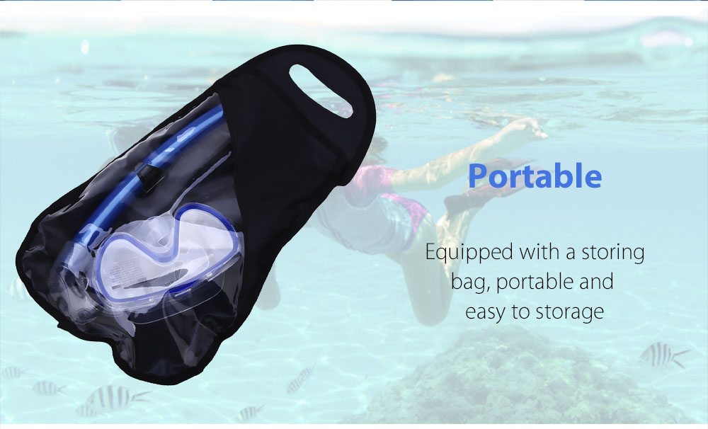 Professional Scuba Diving Silicone Tempered Glass Mask Dry Snorkel Set