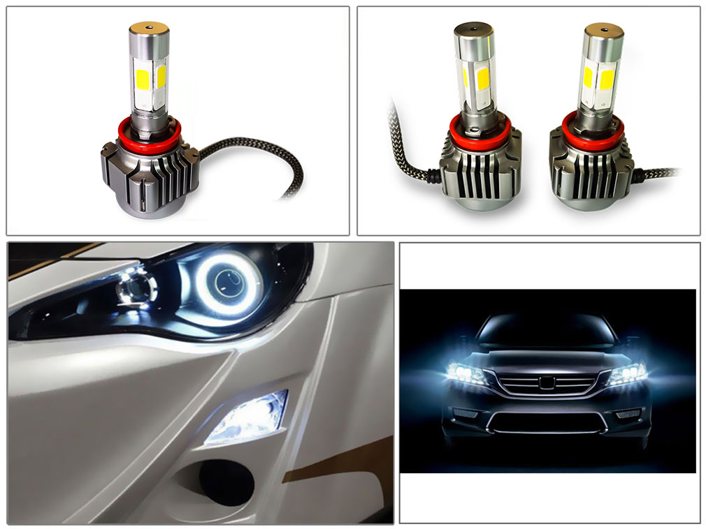 2pcs 36W 4800LM H8 H9 H11 LED Light Car Headlight 6000K Vehicle Conversion Bulb