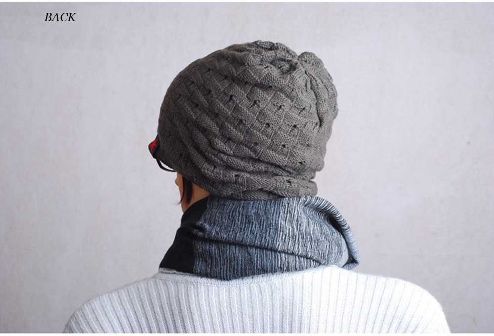 Winter Dual Use Hollow Out Star Design Knitted Hat for Men