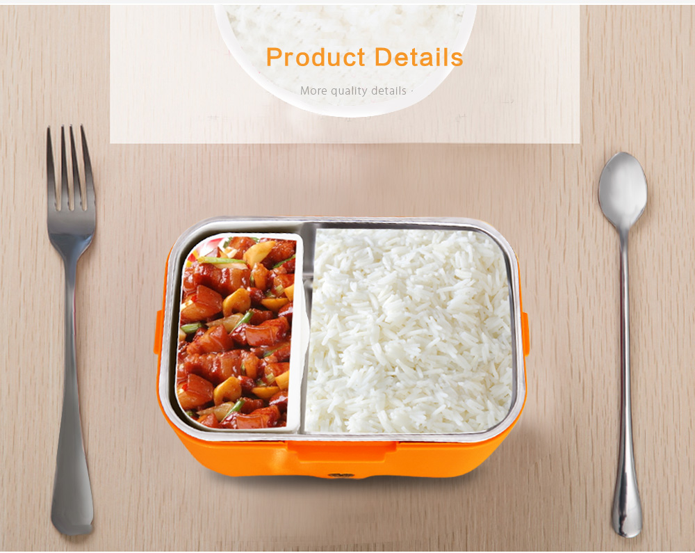 OUSHIBA C5 Electric Heating Lunch Box Stainless Steel Container Portable Meal Heater