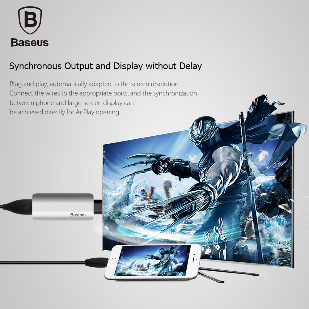 Baseus Share HD Display Adapter Wire for iOS 10