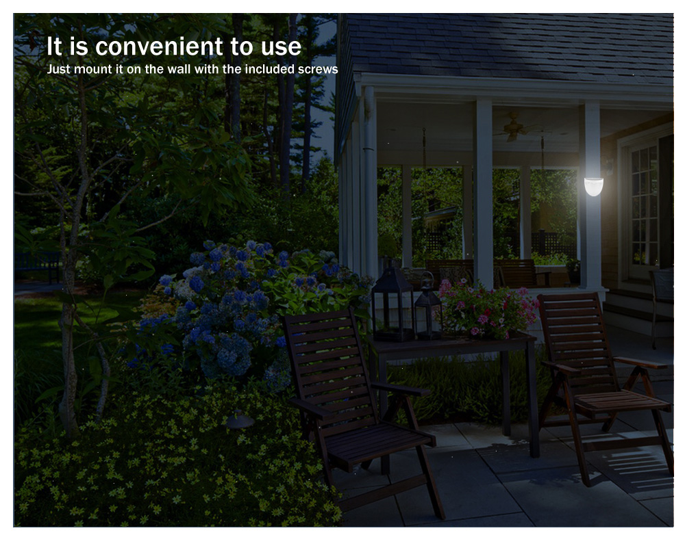 1.2V 0.36W 2LM Solar Powered LED Fence Lamp Wall Garden Light with 6 LEDs