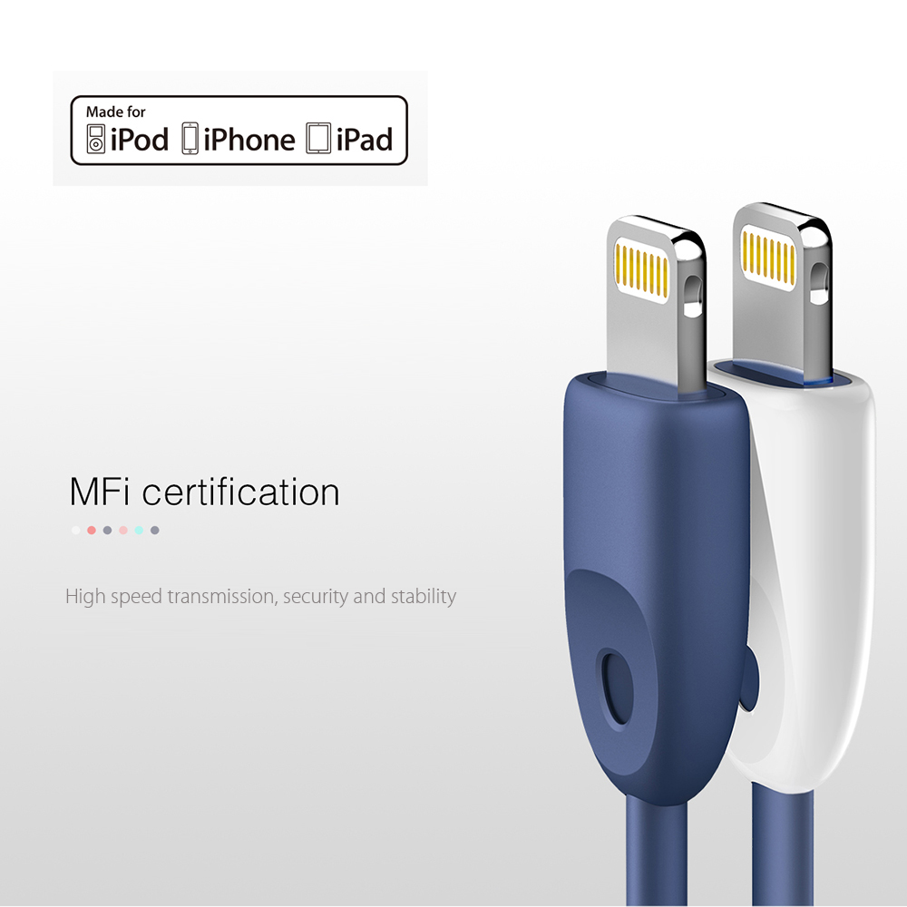 Baseus Rainbow 8 Pin MFi Certificated Charge Data Transfer Cable 1M