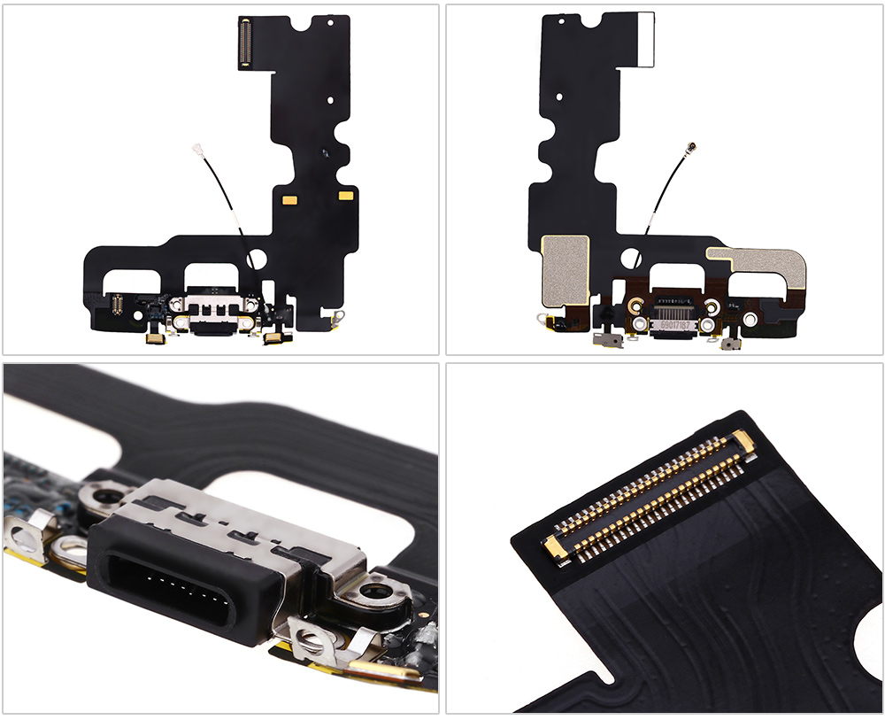 USB Charging Port Connector Flex Cable Ribbon with Signal Antenna for iPhone 7