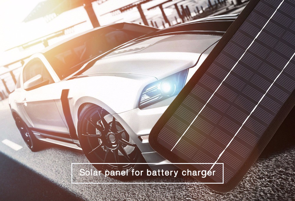8.5W 18V Solar Panel Car Battery Charger Outdoor Power Supply