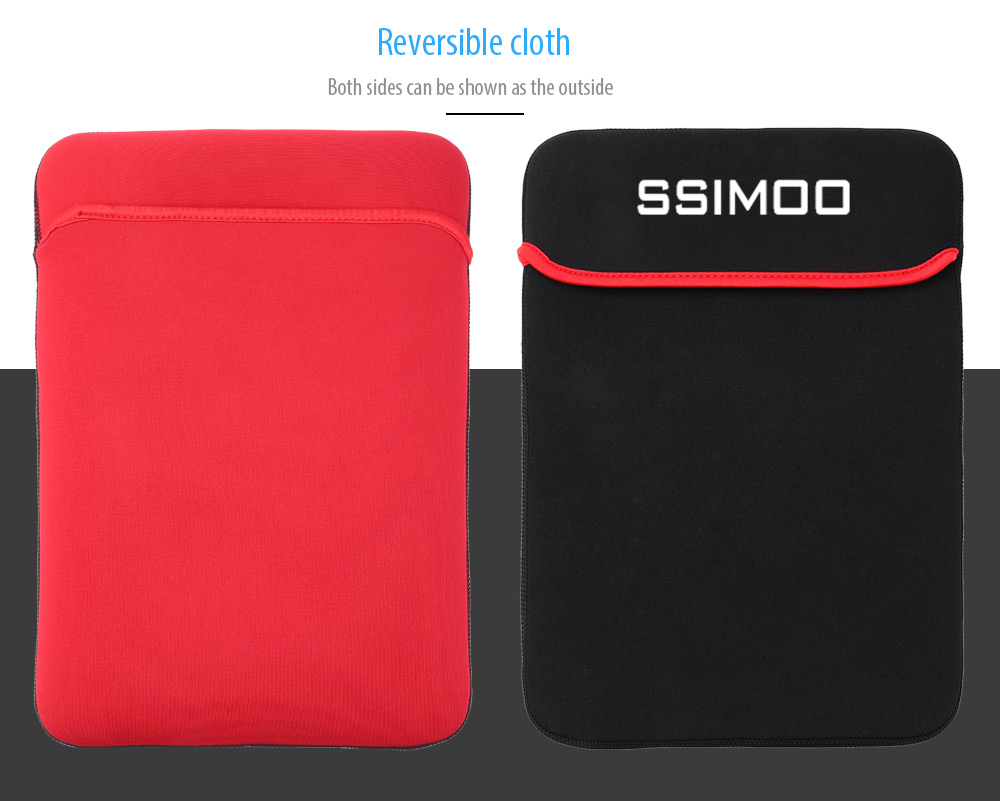 SSIMOO Shockproof Double-faced Foam Fabric Laptop Bag for MacBook / Surface Book 15.6 inch