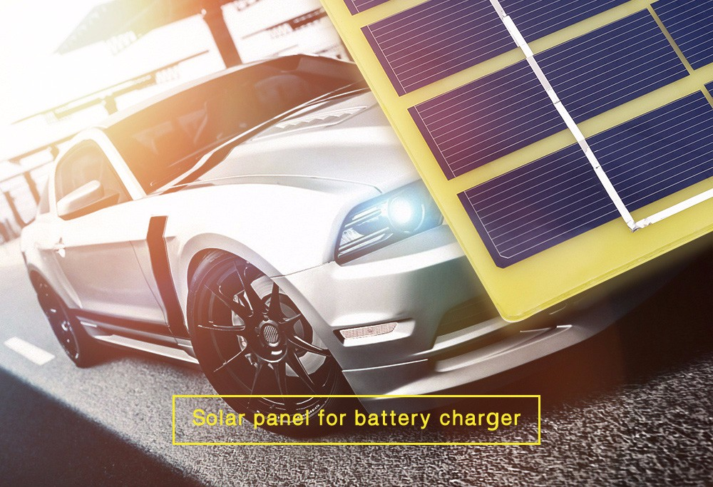 5W 18V Solar Panel Car Battery Charger Outdoor Power Supply