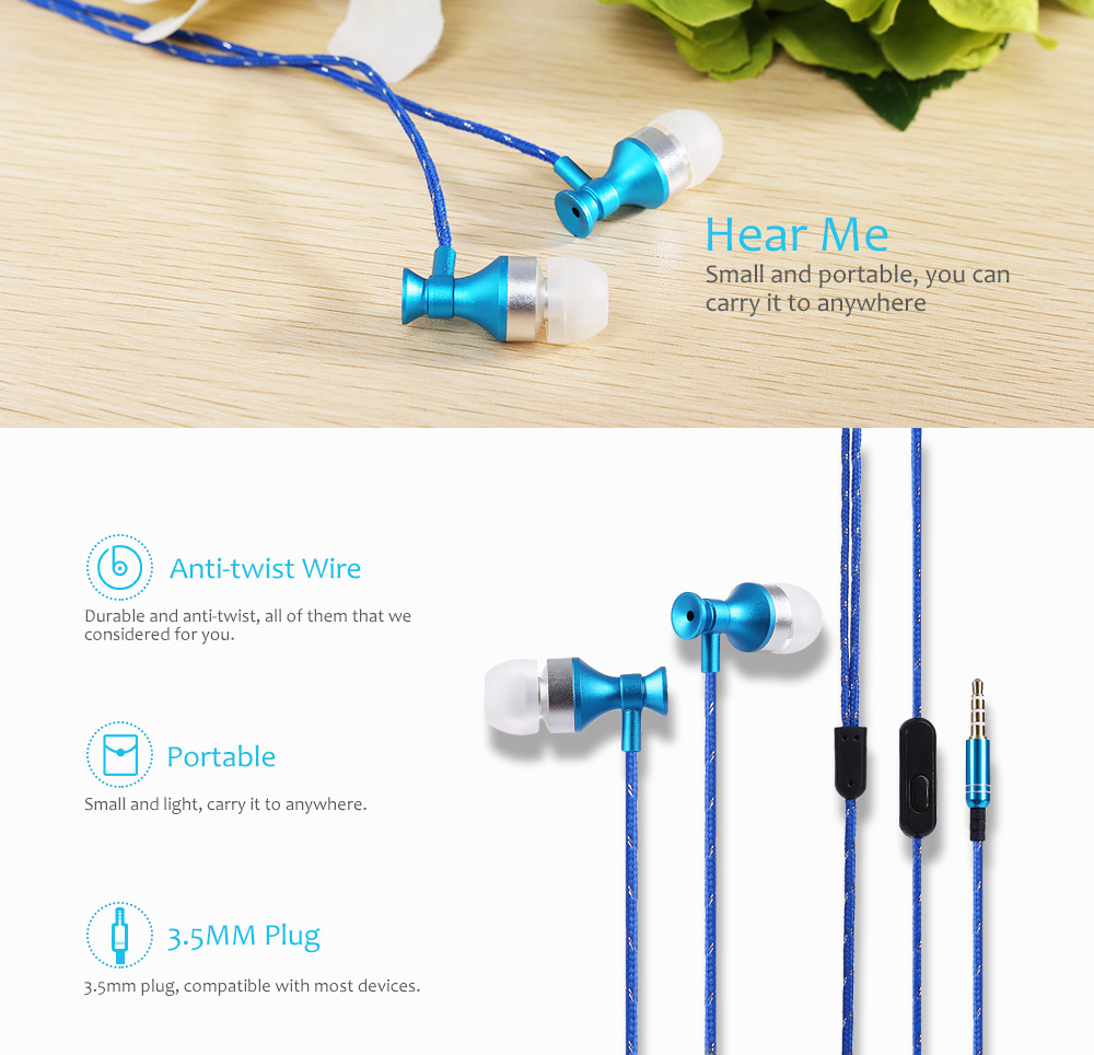 3.5MM HiFi Stereo Music In-ear Earphones