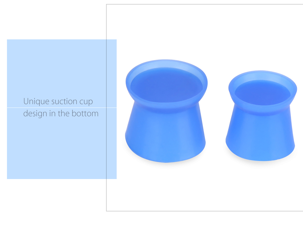 80pcs / Bag Blue Color Silicone Tattoo Ink Cups Pigment Cap with Base