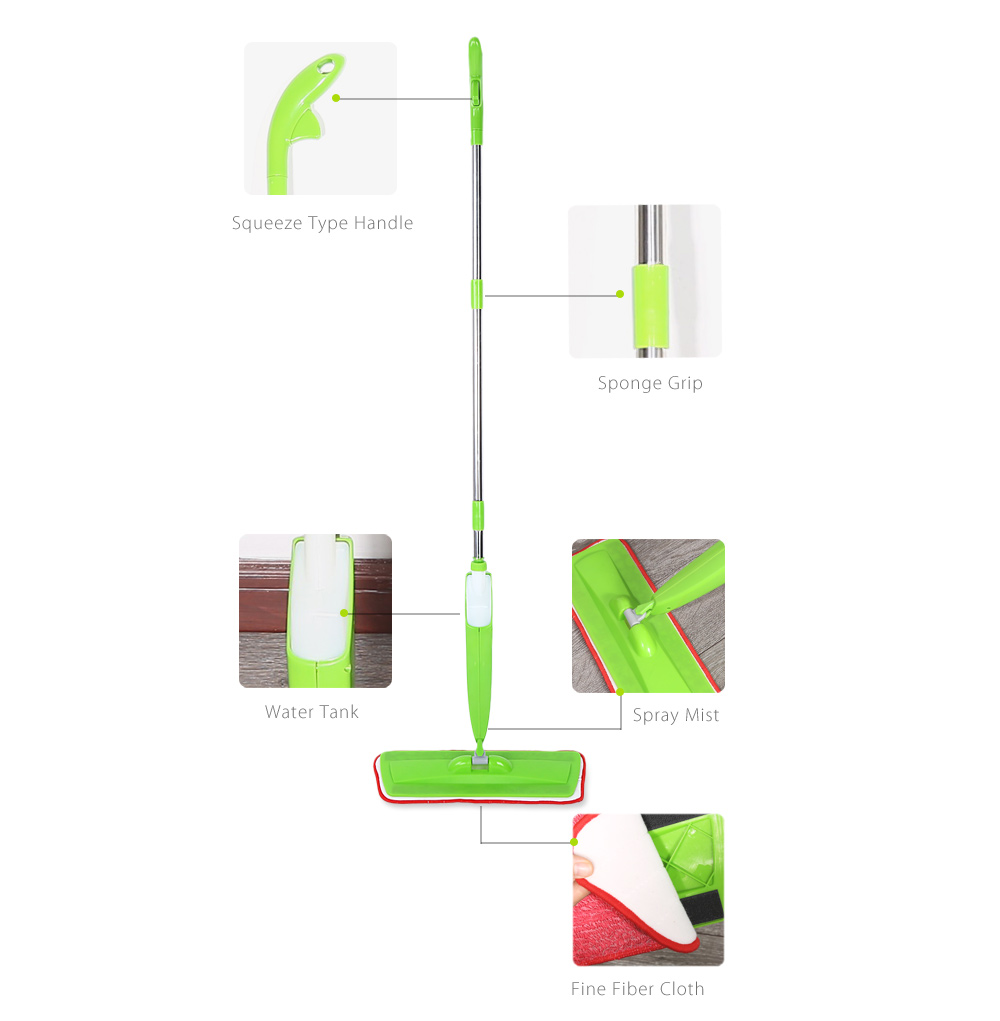 Steam Water Spray Mop Microfiber Floor Steamer Cleaner