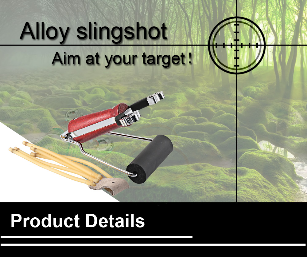Slingshot Rubber Band Wrist Catapult Camouflage Bow for Outdoor Hunting