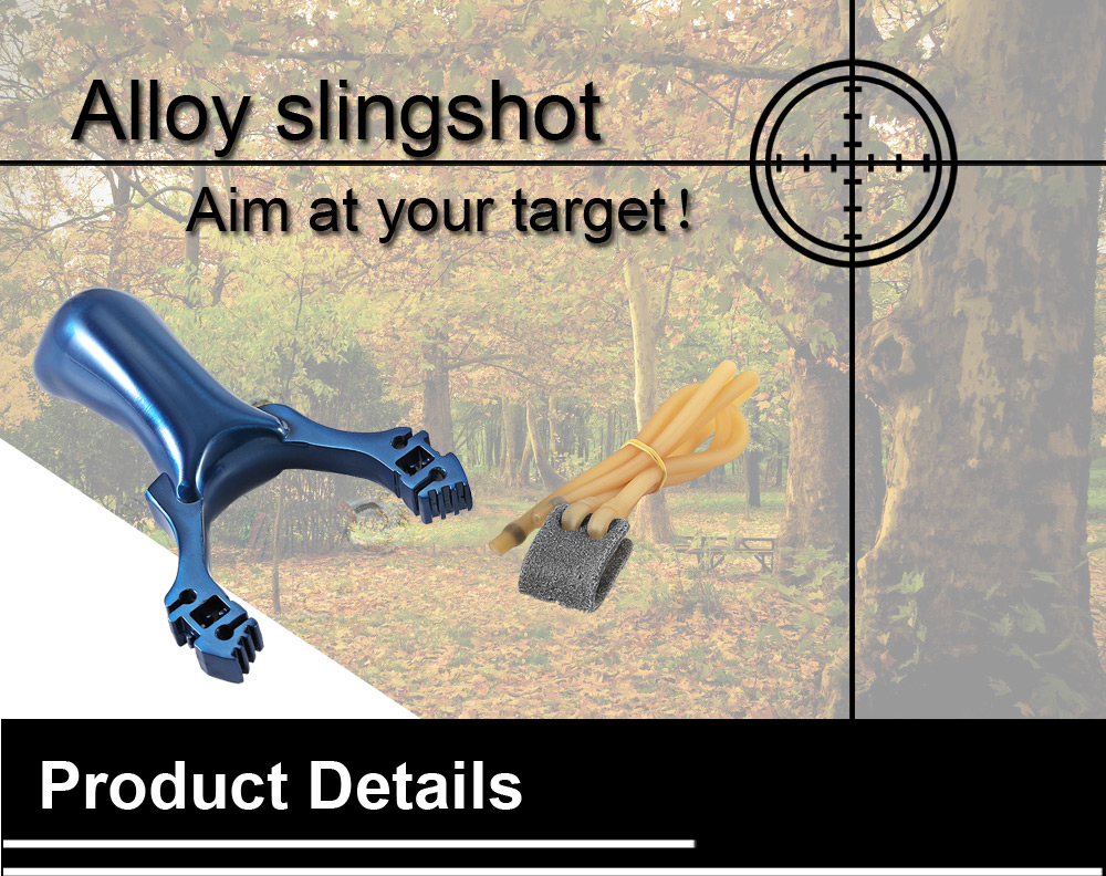 Aluminum Alloy Catapult Slingshot Camouflage Bow for Outdoor Hunting Camping