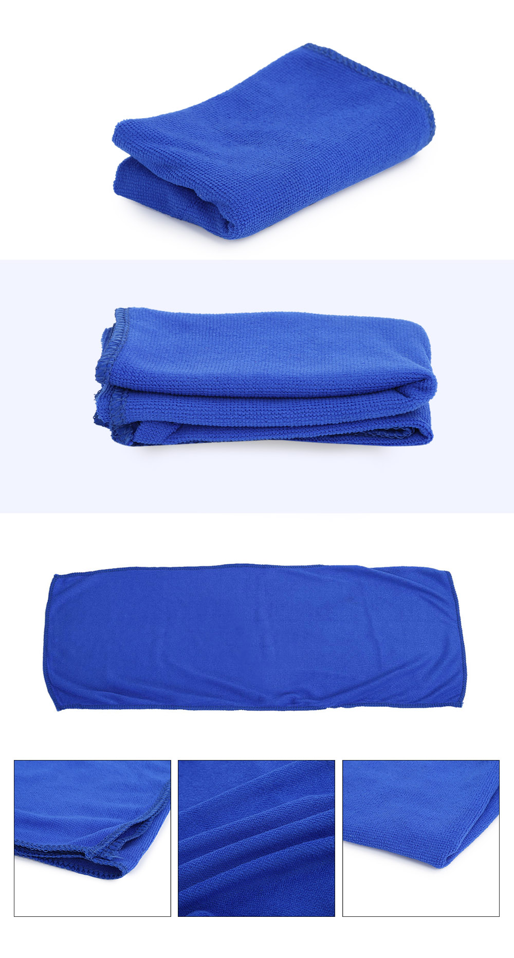 30 x 70cm Multi-purpose Microfiber Cleaning Cloth Absorbent Waxing Towel