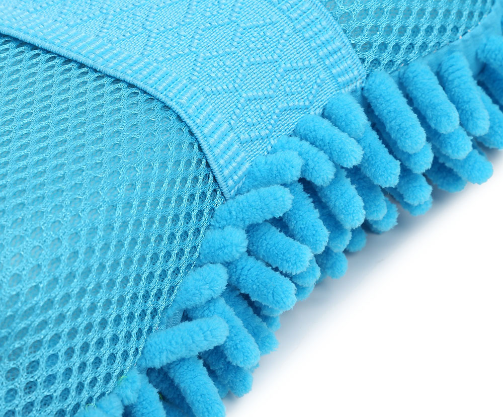 Car Wash Wax Mitt Chenille Sponge Polishing Pad