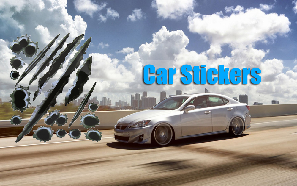 Car Fake Bullet Holes Scratch Removable Sticker