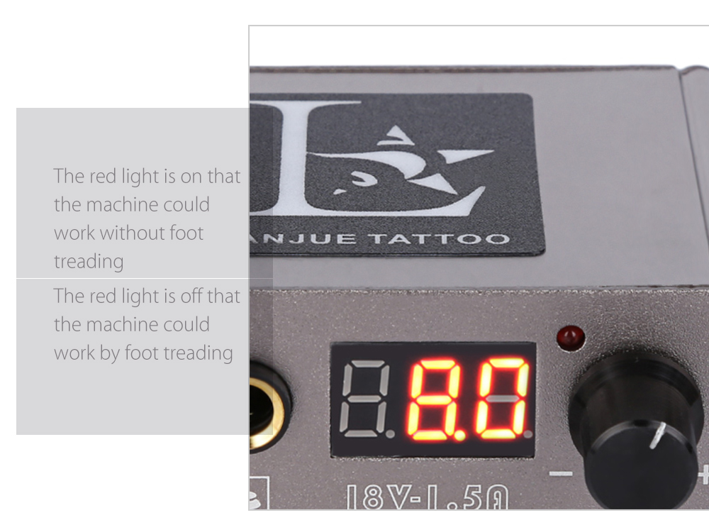 Portable Mini Tattoo Power Supply for Foot Pedal Switch