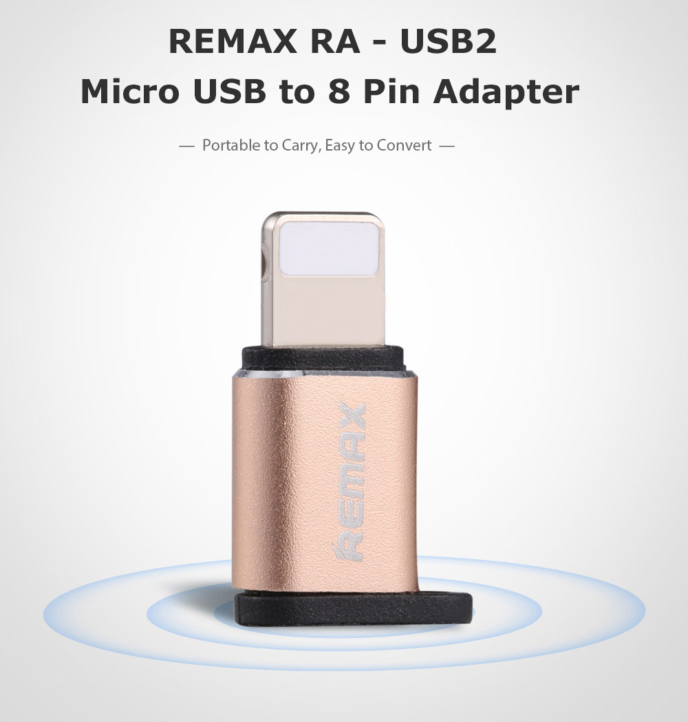 REMAX Visual RA - USB2 Micro USB to 8 Pin Adapter for iPhone