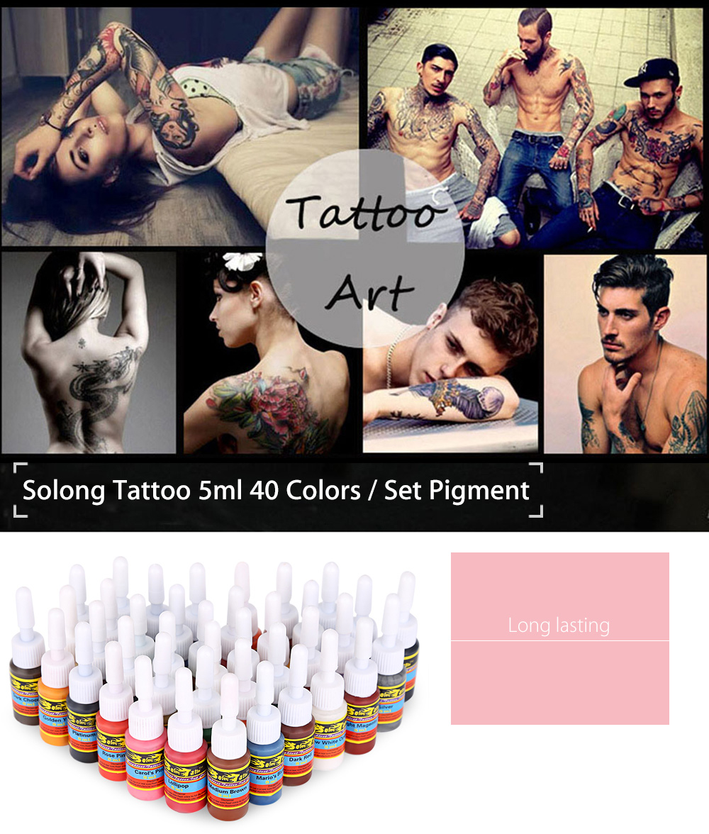 Solong Tattoo 5ml 40 Colors / Kit Pigments Inks