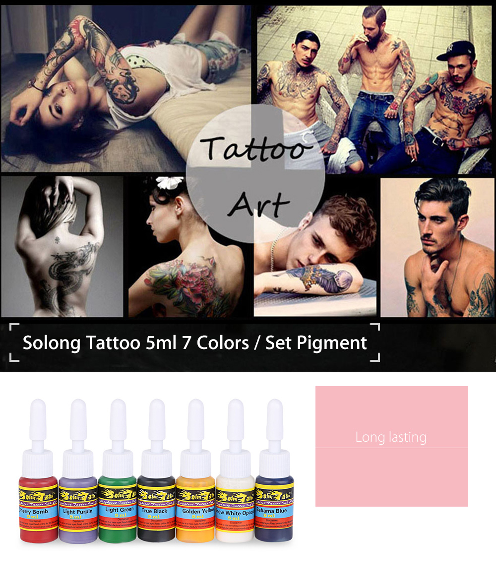 Solong Tattoo 5ml 7 Colors / Kit Pigments Inks