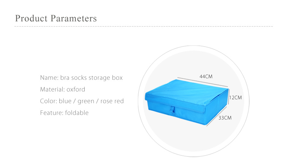 2 in 1 Foldable Bra Socks Storage Box Dresser Drawer Organizer