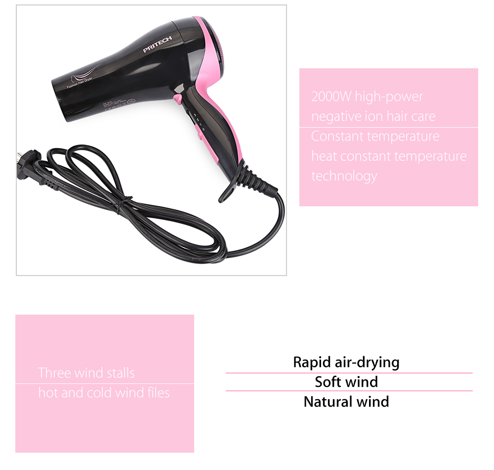 PRITECH TC - 1601 Powerful Electric Portable Traveller Compact Hair Dryer