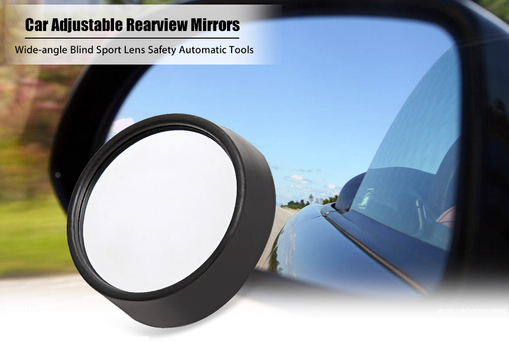 2pcs Car Adjustable Wide-angle Rearview Mirrors Safety Automatic Accessories