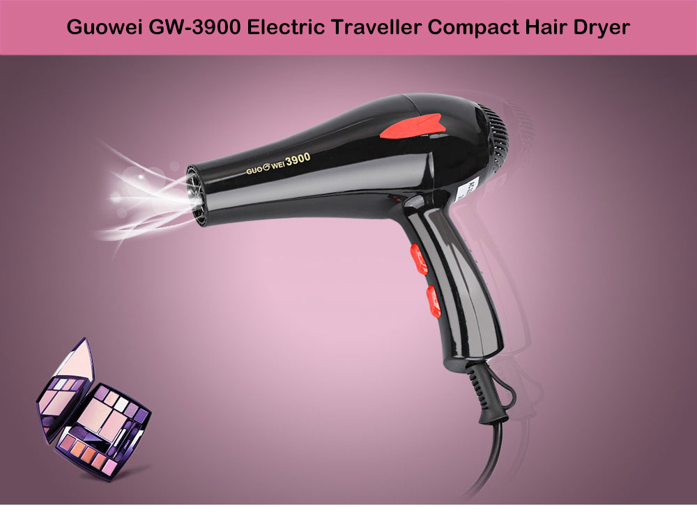 Guowei GW - 3900 Powerful Electric Portable Traveller Compact Hair Dryer