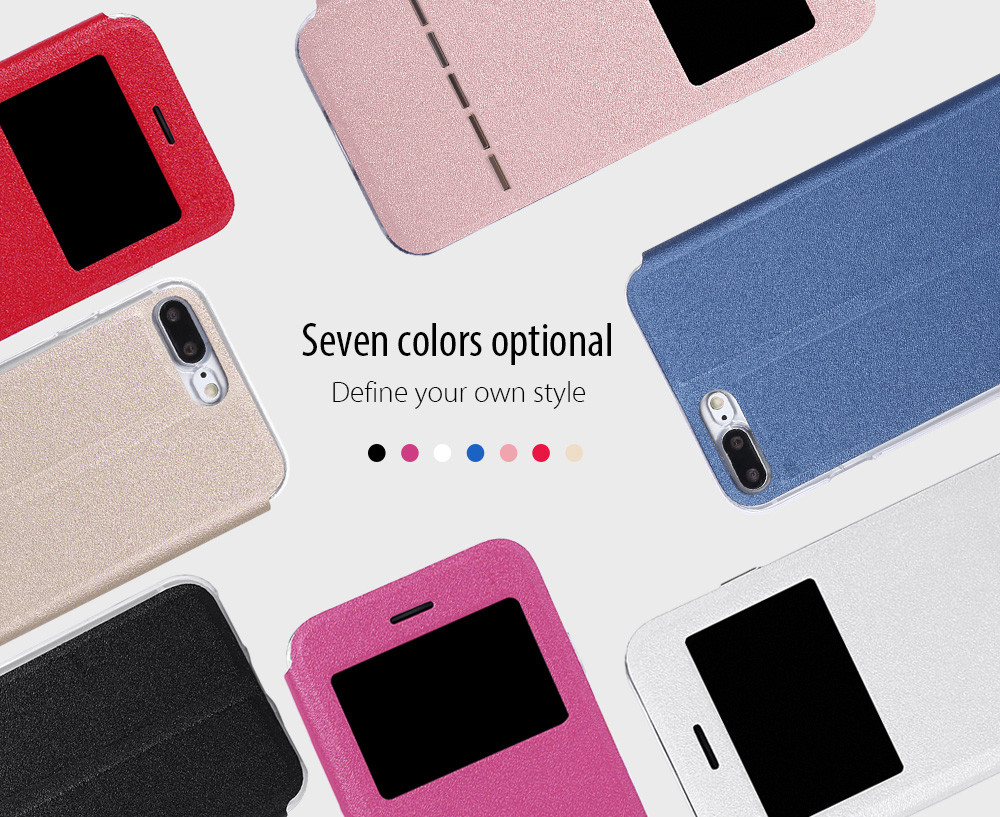 View Window Full Protective Case Cover Smart Answer for iPhone 7 Plus