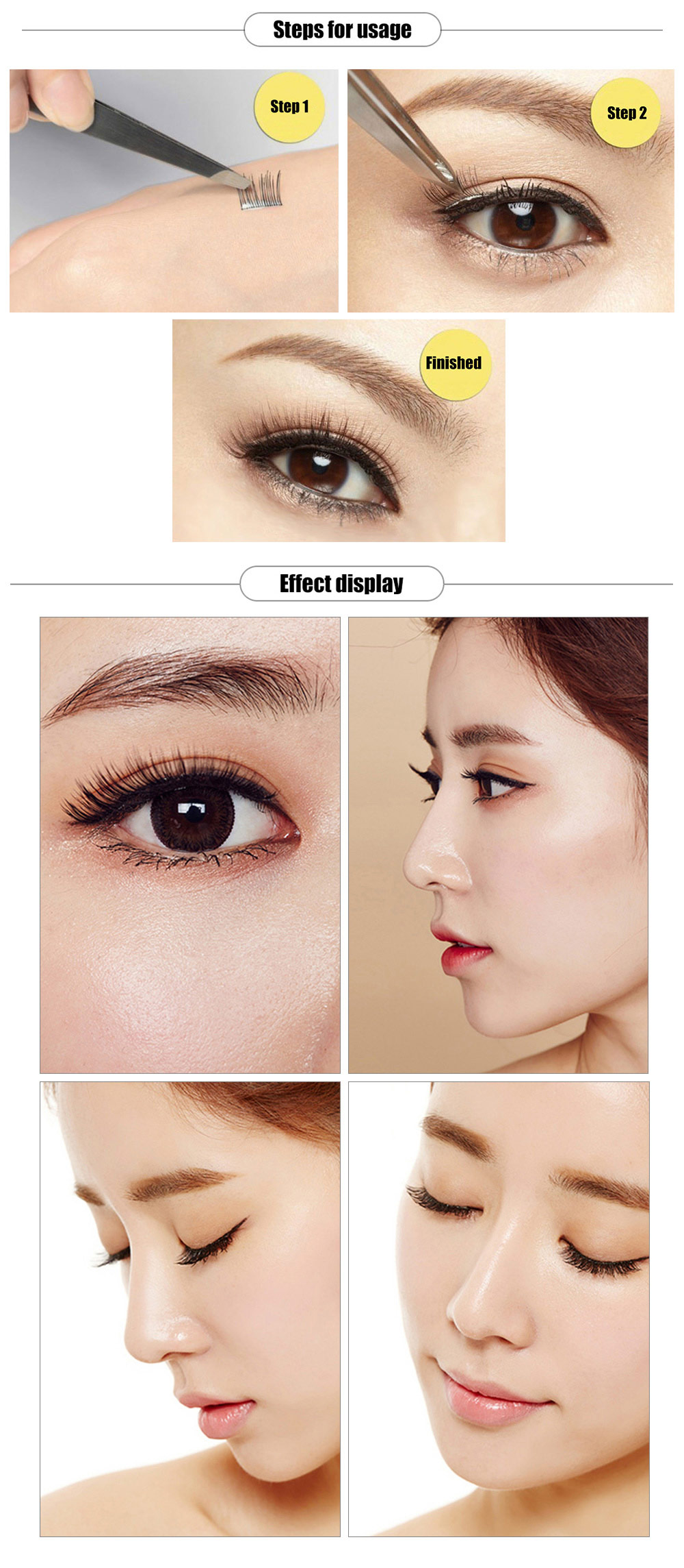 LDIANER 12 Rows Grafted Closely Single Planted Eyelashes