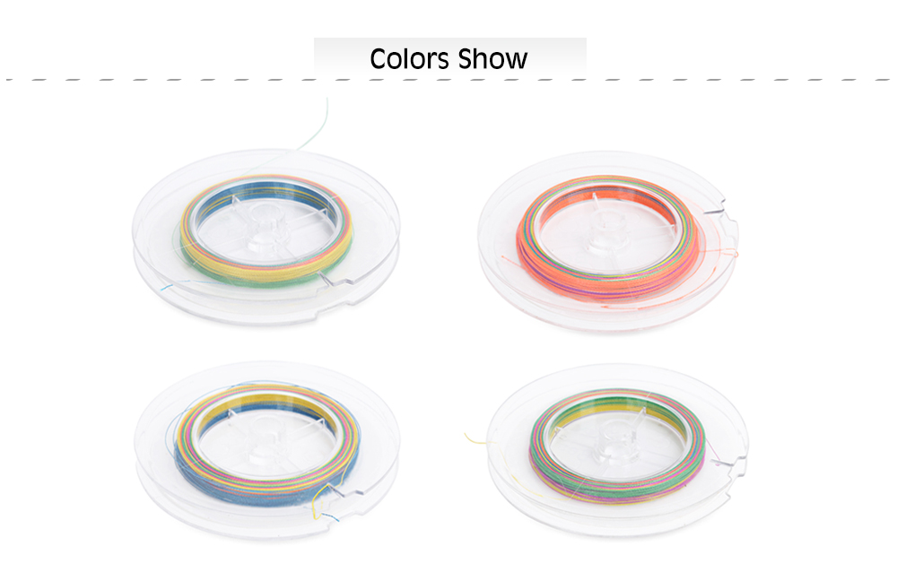 HENGJIA 100M Colorful PE 4 Strands Multifilament Braided Fishing Line Angling Accessory