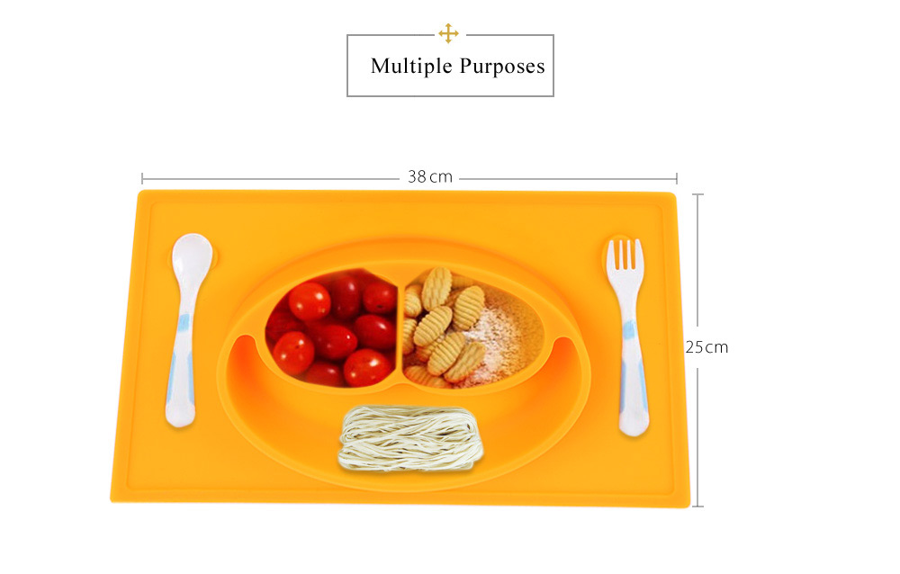 Non-slip Silicone Baby Placement Plate Mold Tray Smile Face