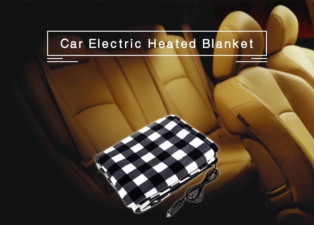 Car Electric Heated Blanket Cushion Truck Heating Pad Seat Cover