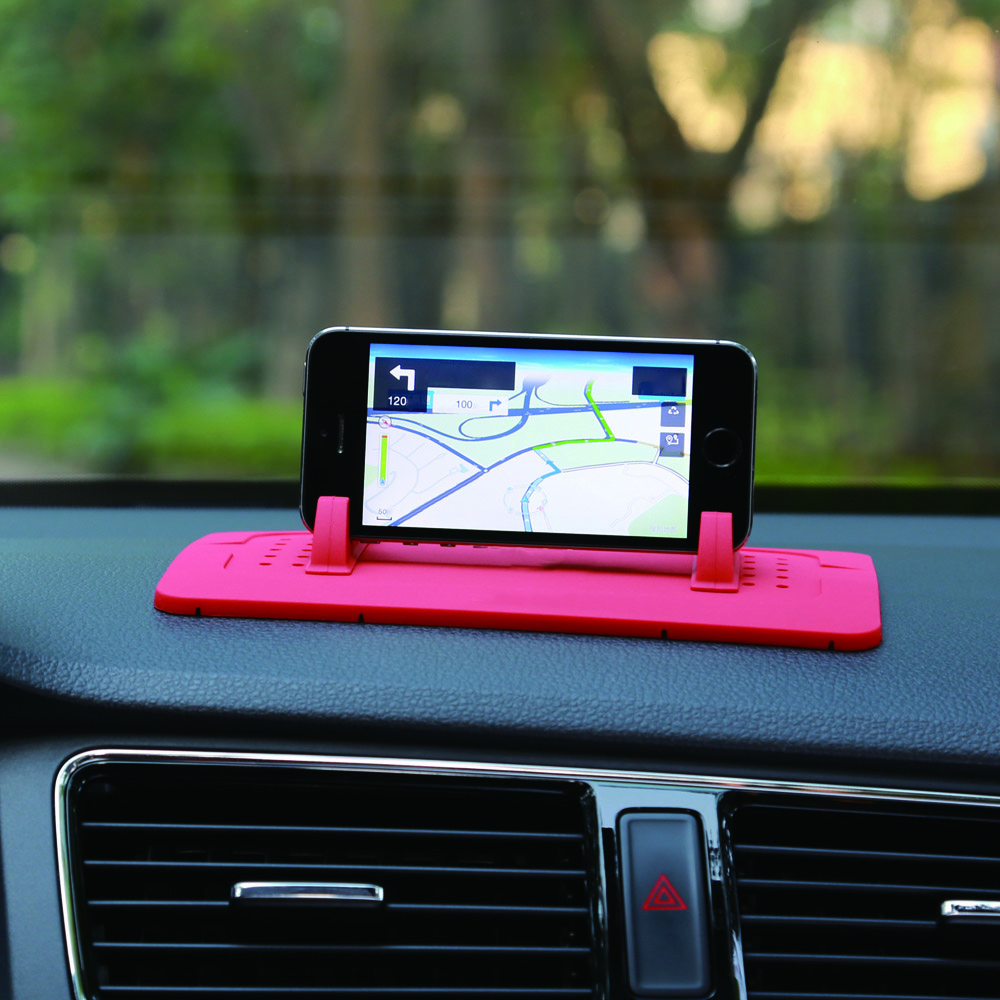TS030 Smart Phone Tablet PC Holder Car Mount Stand Silicone Skid-proof Pad Dash Mat Cradle Dock