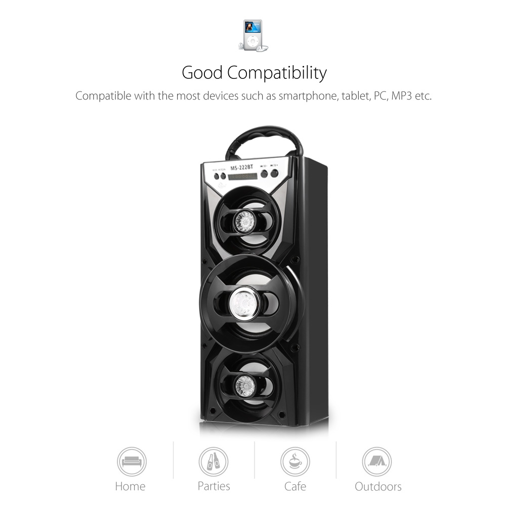Eonec MS - 222BT Bluetooth Speaker with AUX USB TF Card Slot