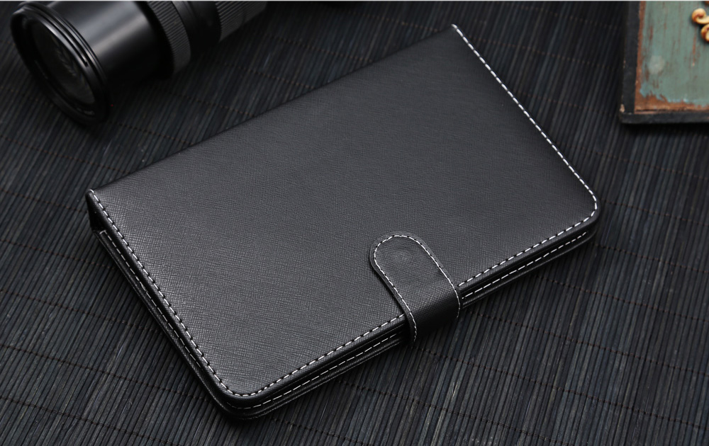 Micro USB Wire Control Keyboard PU Leather Protective Case for Android Phone 4.7 - 6.2 inch