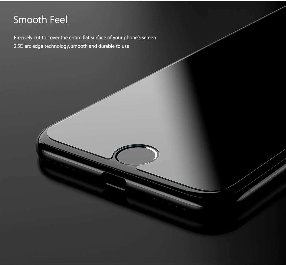CAFELE 2.5D Curved Tempered Glass Shatterproof Anti-purple Non Full Screen Protective Film for iPhone 7 0.3mm