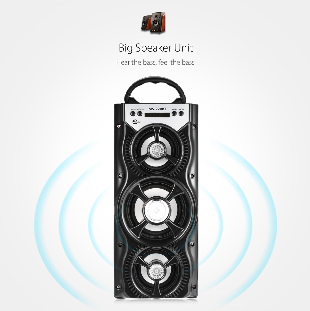 Eonec MS - 220BT Bluetooth Speaker with AUX USB TF Card Slot