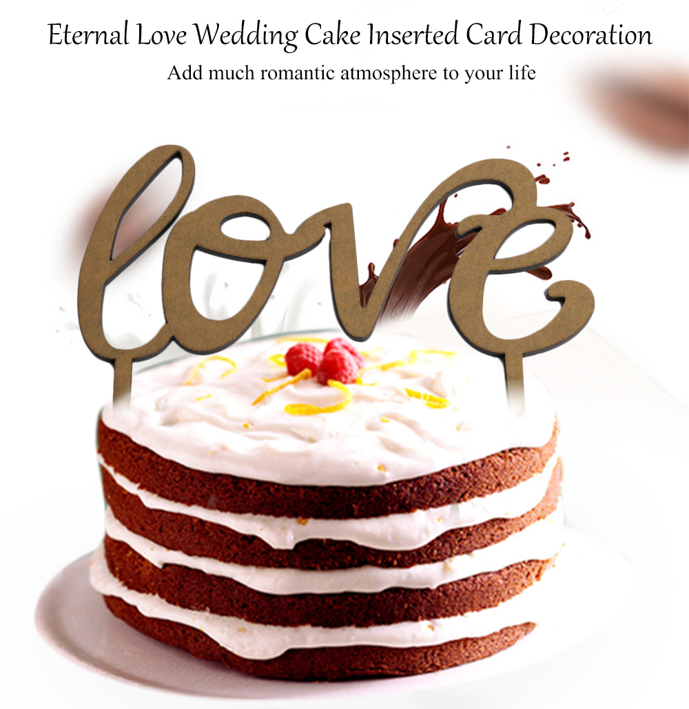 Eternal Love Shape Wedding Cake Inserted Card Decoration