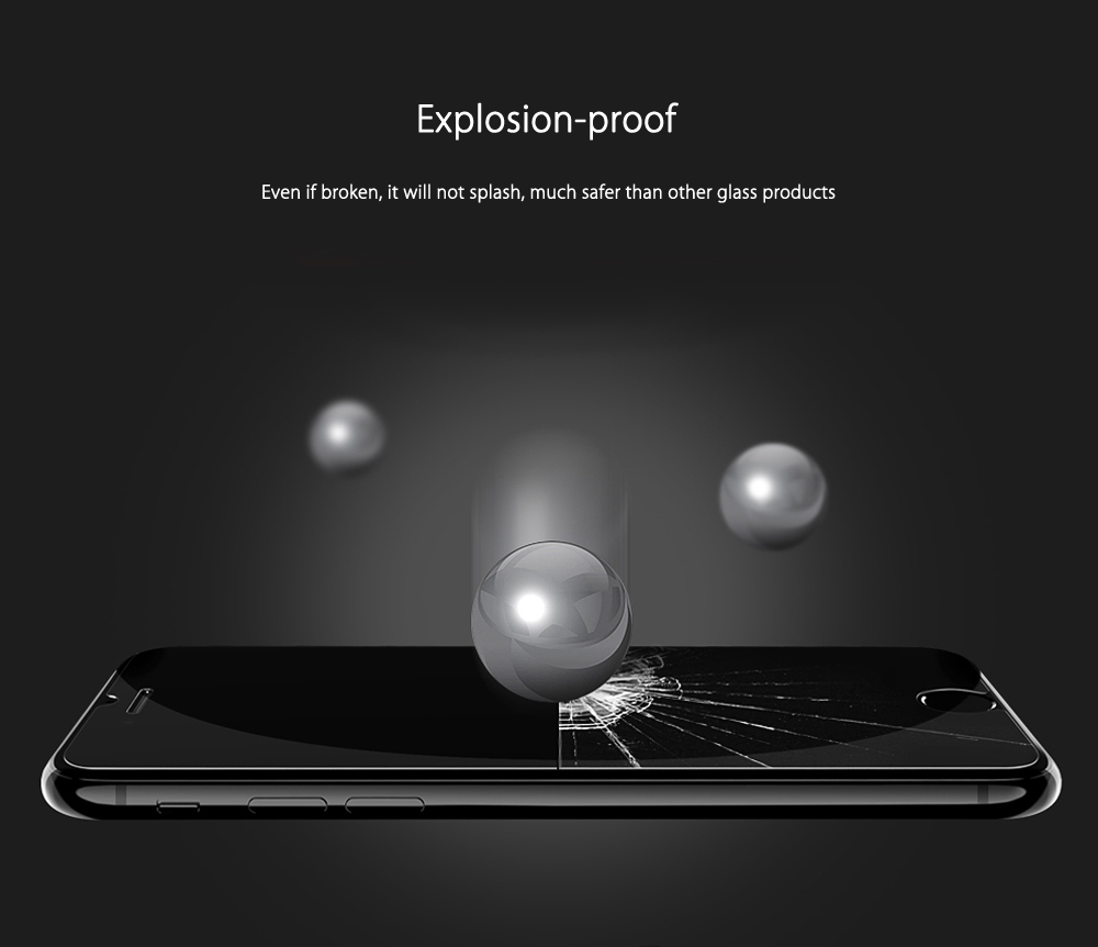 CAFELE 2.5D 9H Tempered Glass Explosion-proof Transparent Protective Film for iPhone 7 Plus 5.5 inch 0.3mm