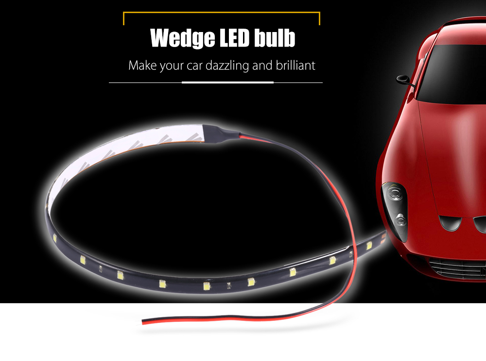 30cm LED Strap Car Styling Daytime Running Lamp Backup Reverse Parking Signal Light