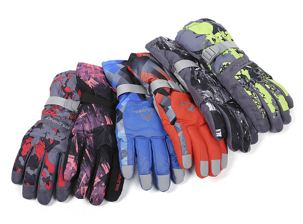 WILD SNOW Paired Unisex Outdoor Riding Water Resistant Windproof Warm Snowboard Skiing Gloves