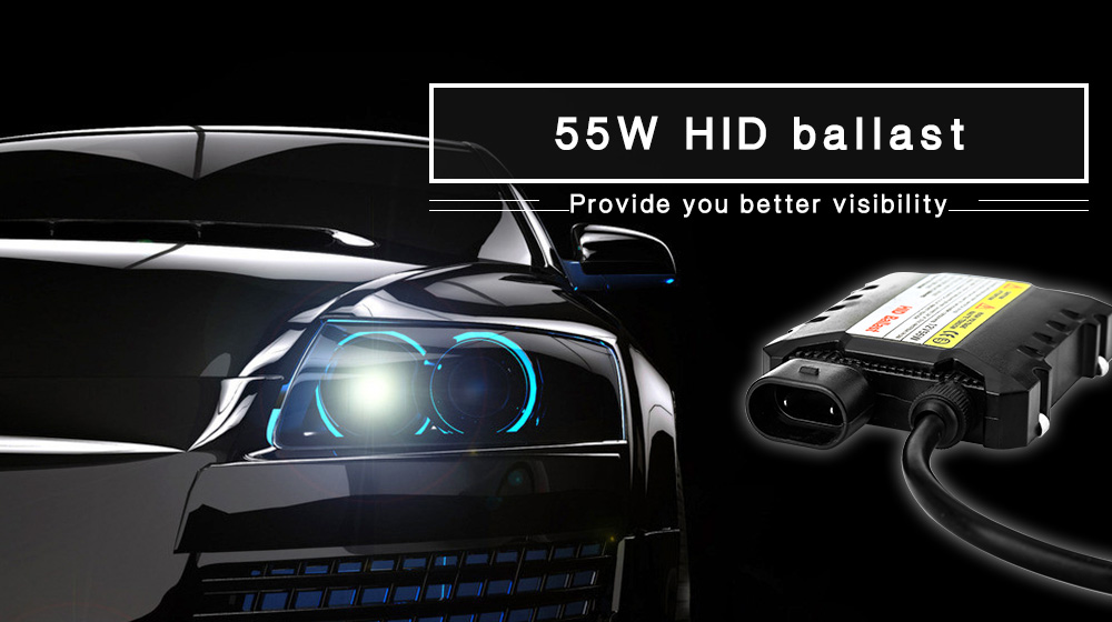 Pair of 55W Car HID Ballast High Intensity Discharge Xenon Lamp