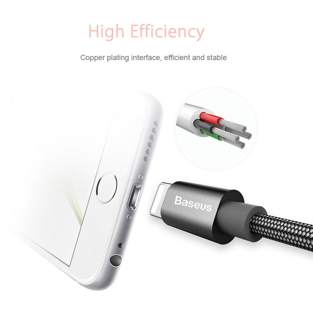 Baseus Simple Version of Antila Series 8 Pin MFi Certificated Transfer Data Synchronization Charging Cord 1.8M
