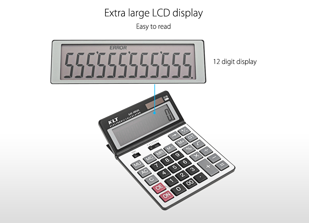 KLT SJC - 1012L Advanced Electronic Calculator for High Middle Primary School Student