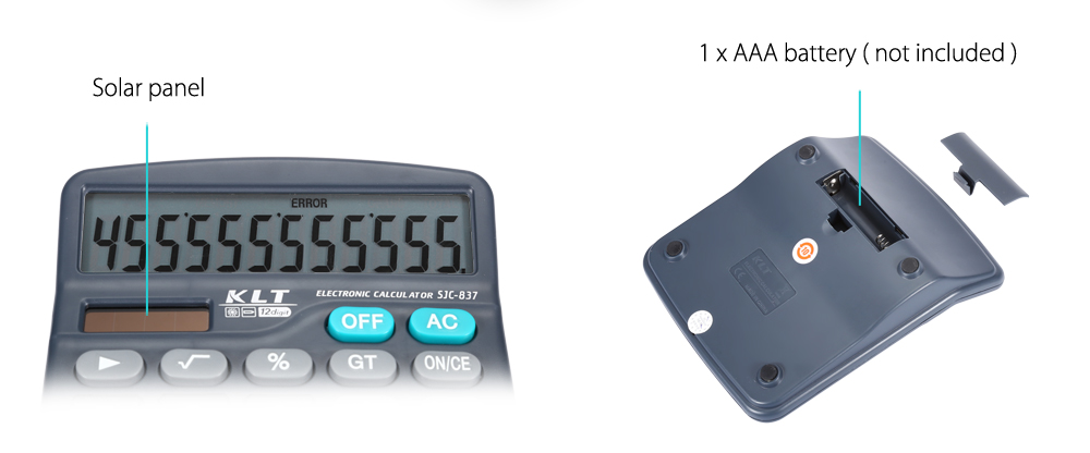 KLT SJC - 837 Dual Power Advanced Electronic Calculator for High Middle Primary School Student