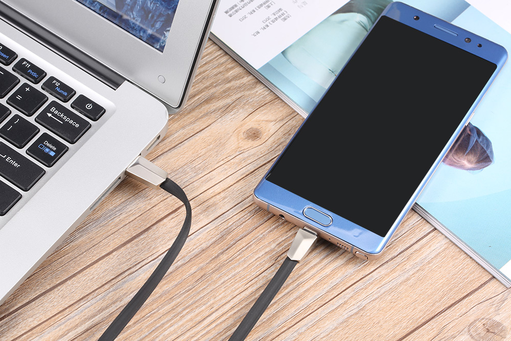 HOCO X4 Zinc Alloy Rhombic Type-C Connector Fast Charging Data Transfer Cable 1.2M