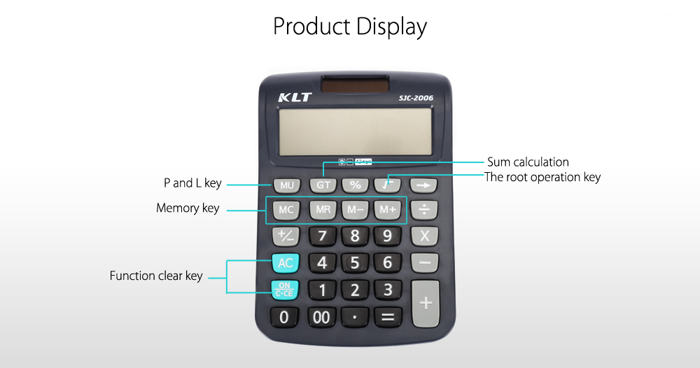 KLT SJC - 2006 AAA Battery Powered Advanced Electronic Calculator for High Middle Primary School Student