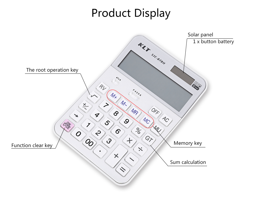 KLT SJC - 878H Advanced Electronic Calculator for High Middle Primary School Student