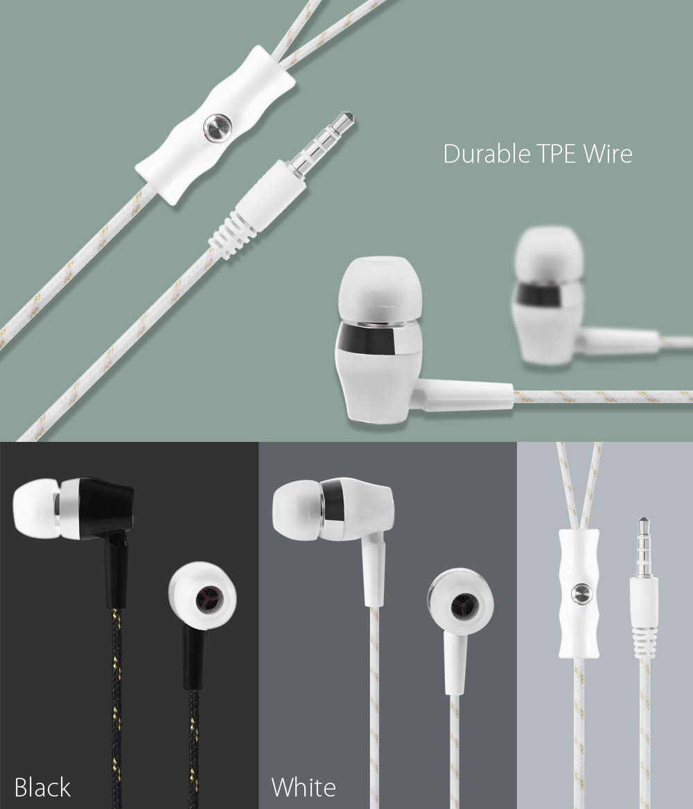 tuopoda Am - 22 Wired Stereo In-ear HiFi Music Earphones Headphones