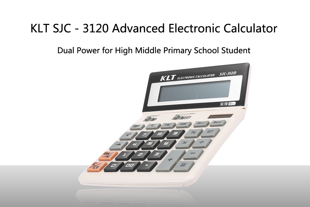 KLT SJC - 3120 Dual Power Advanced Electronic Calculator for High Middle Primary School Student